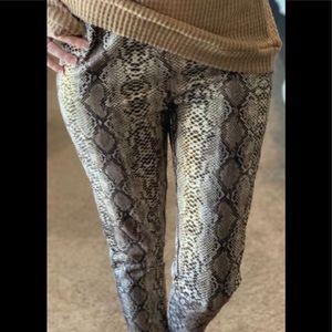 NWT Taupe Snake Print Leggings